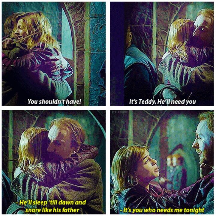 Tonks and Lupin >>> I ship them so hard.  Another scene that should have been left in the movie!