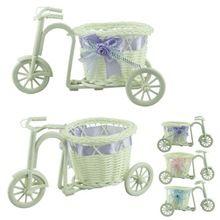 1 шт. большое колесо круглый корзина ротанга плавает ваза вазоны контейнеры маленький цветок велосипед / цветочный горшок светло-фиолетовый(China (Mainland))