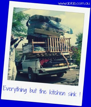 Kitchen Sink. For moves in South East Queensland call ab fab The Stress Free Movers (07) 5445 8797