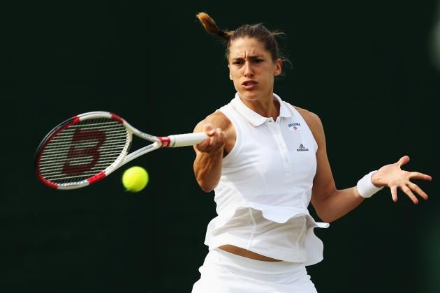 Worst: Andrea Petkovic- Andrea Petkovic's Wimbledon kit is a prime example of the right outfit on the wrong person. The Adidas design with ruffles is beautifully done. It's dainty and flatters the waist. But it doesn't work with Petkovic's athletic body type. Petkovic, a muscular athlete, might look better in long t-shirt style dresses like those worn by Stephens and Samantha Stosur.