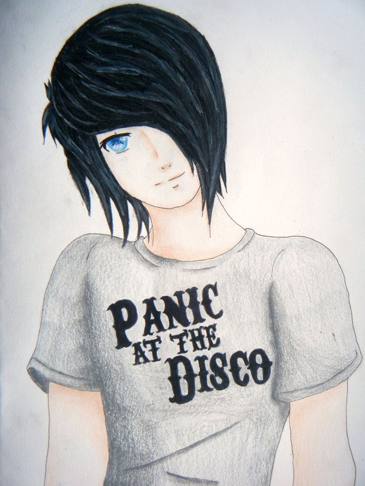 Anime guy - Emo drawing