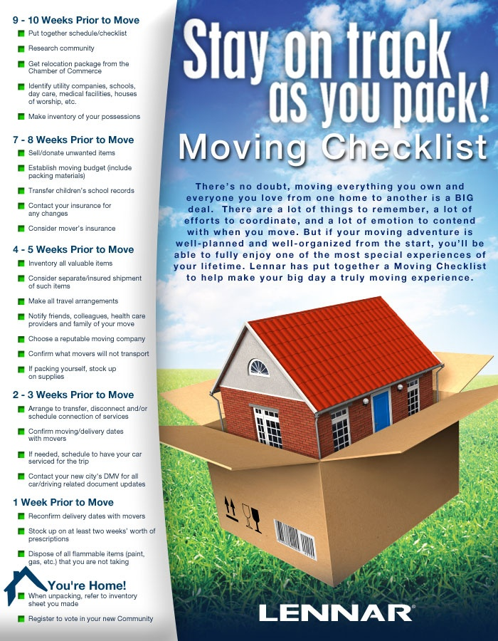 Stay on track as you pack!  Use this helpful checklist to make sure you have a smooth moving experience!