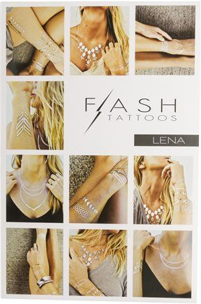 Flash Tattoos - metallic temporary. The Cutest Beachy Apparel Online! Pack for your next vacation at Qtee.com