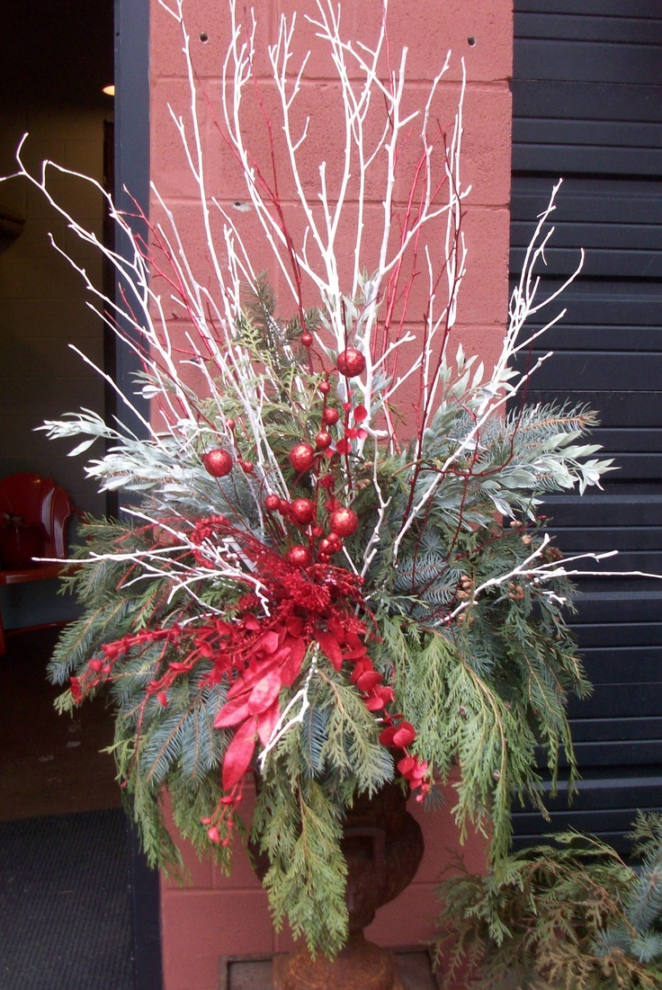 Christmas Urn Decor Ideas Pinterest