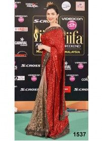 Latest Designer Red Bollywood Saree..  http://www.kmozi.com/bollywood-replica/bollywood-saree/latest-designer-red-bollywood-saree-1124