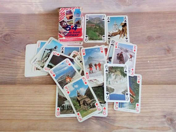 Vintage Playing Cards 54 Views from Norway Playing Cards 90s