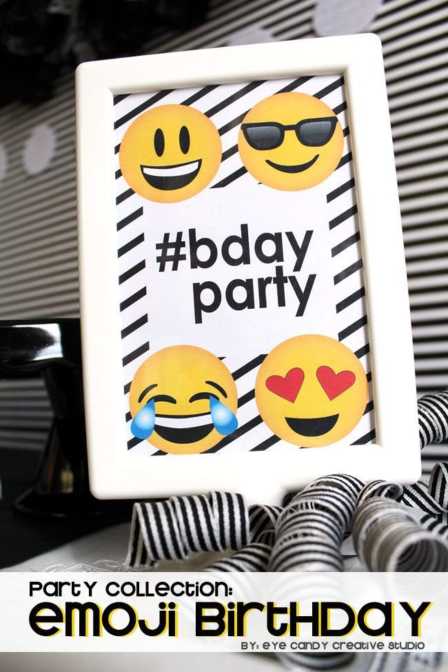 printables for Emoji Birthday party @eyecandycreate #emojis #emojibirthday #emojiparty