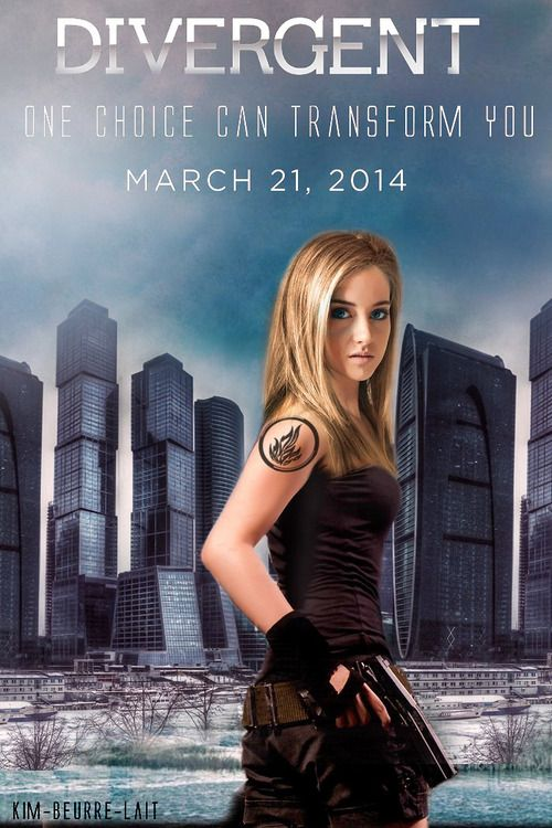 Four And Tris Divergent Movie Poster
