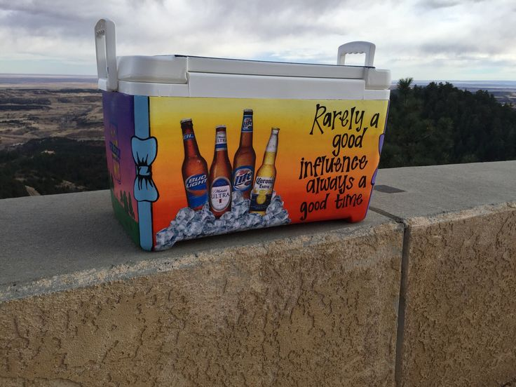 Painted Fraternity Cooler Need a custom painted cooler for a formal, birthday, or Christmas gift? I can paint just about anything you would like for any occasion. Email CollectivelyOasis@gmail.com or text 719-337-3358 to order. Prices vary per cooler. Tags: painted frat cooler, cooler, formal cooler, formal cooler designs, painted cooler, cooler connection, painted cooler for sale, painted Fraternity cooler, rarely a good influence always a good time, frat quotes for cooler,