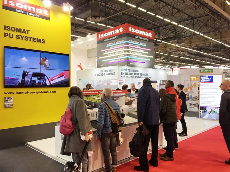 It's the second day of the BATIMAT 2017 international trade fair and ISOMAT's stand is already attracting visitors from all over the world! At Hall 6, Stand G168, the audience has been captivated by ISOMAT's new corporate video, which will be available also online very soon! Learn all about our polyurethane waterproofing systems ISOMAT PU SYSTEMS, our industrial floorings, our microcement and decorative coatings, and the new advanced Polyurea waterproofing and coating systems.