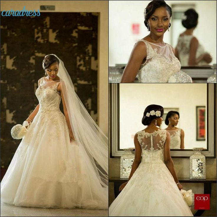 Find More Wedding Dresses Information about Vestios De Marriage Gorgeous Wedding Dresses Sheer Crew Neck South African Lace Appliques Wedding Gowns Arabic Dubai with Button,High Quality dubai jewelry,China gown meaning Suppliers, Cheap dubai dress from CDDRESSES Store on Aliexpress.com