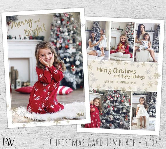 free christmas card photoshop templates