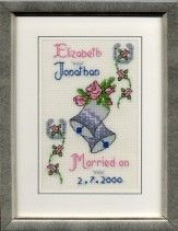 The Finished Wedding Cross Stitch