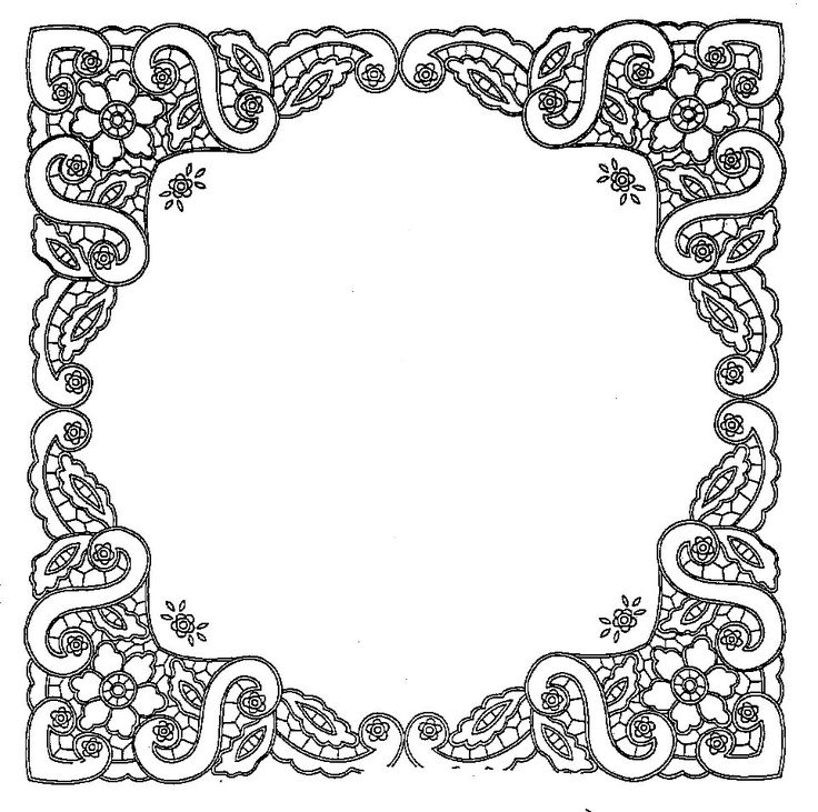 54 best Coloring pages frames and borders images on
