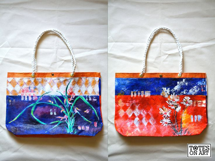Holiday Commission Tote for a mother. 19.5″x13″. Machine sewn, hand-hammered in button and grommets, hand braided rope handle. December 2014.