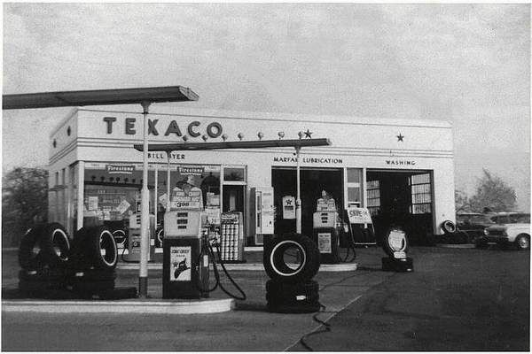Old Service Stations provided full service and fair market gas prices.  Today, the gov. gas tax is more than we paid for the gas back in the 50's.  Capitalism, Free Enterprise worked well for us then.
