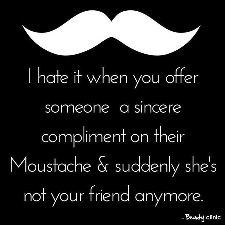 Don't want compliments on your moustache? IPL Hair Removal is your answer! Don't miss our TWO for ONE offer this month Buy one area get another area FREE!  #saynotothemo