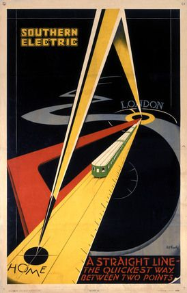 'The Quickest Way Between Two Points', SR poster, 1931., Keely, Patrick Cokayne