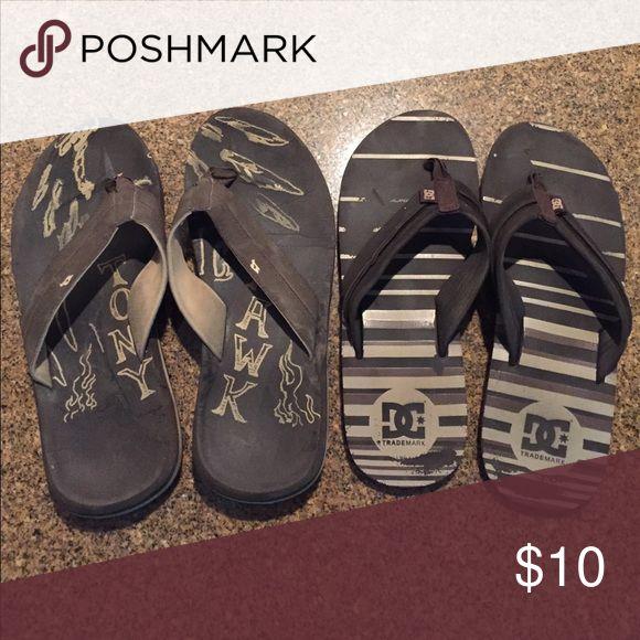 DC sandals Selling two sandals one Tony hawk 1 DC size 10 DC Shoes Sandals & Flip-Flops