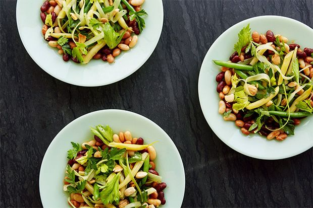 Five Bean Salad With Smoked Paprika Vinaigrette-I love beans! This delicious salad will certainly be appearing at many of our summer family functions. Use the olive oil of your choice. I will be mixing Garlic and a mild-moderate Extra Virgin Olive Oil.