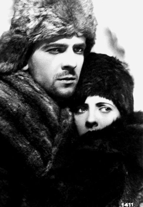 "Jadwiga Smosarska with Adam Brodzisz in ""Na Sybir"" (1930)"