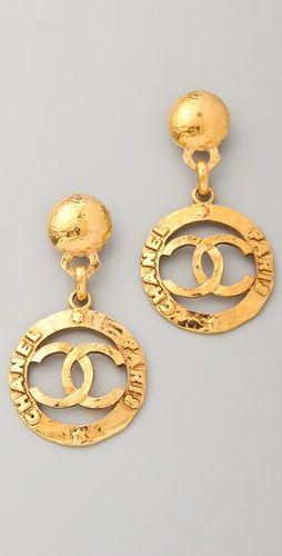 WGACA Vintage Vintage Chanel CC Earrings | SHOPBOP