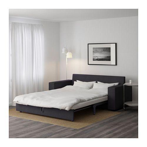 VILASUND 3er-Bettsofa - Dansbo dunkelgrau, - - IKEA