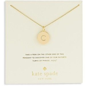 http://www.fashionnewswebsites.com/category/initial-necklace/ kate spade initial necklace C - Google Search