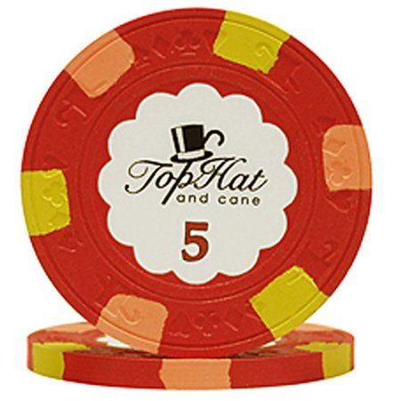 Paulson Top Hat & Cane Poker Chips