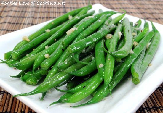 Garlicky Green Beans | Noms! | Pinterest