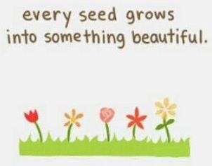 """Every seed grows into something beautiful"" quote via Carol's Country Sunshine on Facebook"