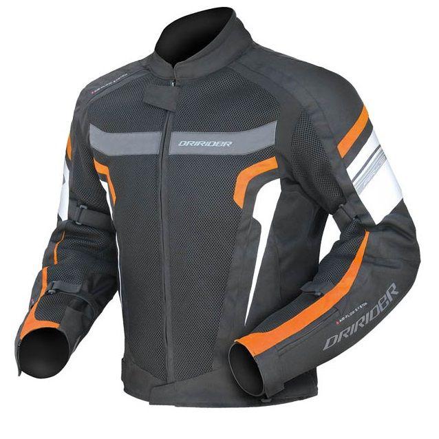 DriRider Air-Ride 3 Jacket - Black/Orange/White | The Helmet Warehouse