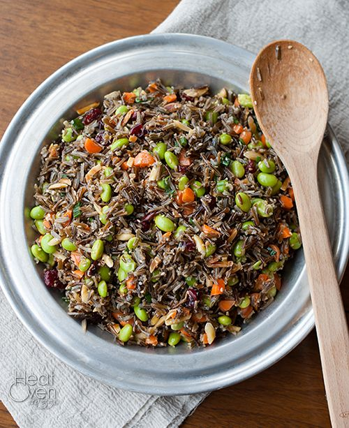 Wild Rice Salad ~ edamame, cranberries, carrots, green onions. No mayo ...