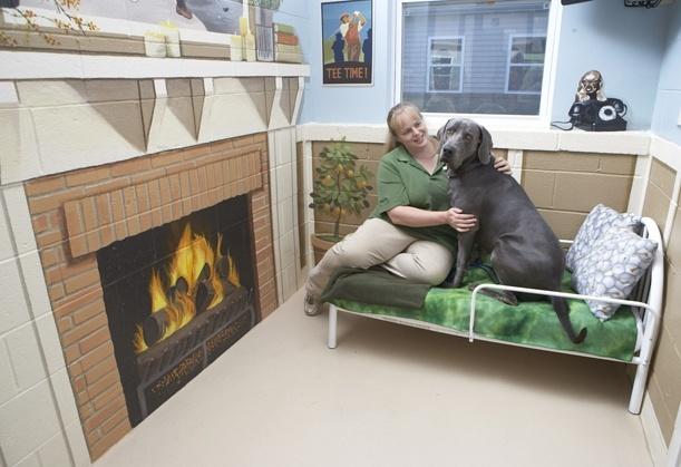 Pennsylvania Pet Friendly Resort | Nemacolin Woodlands Resort | Pet Resorts near Pittsburgh- haha I like the fireplace