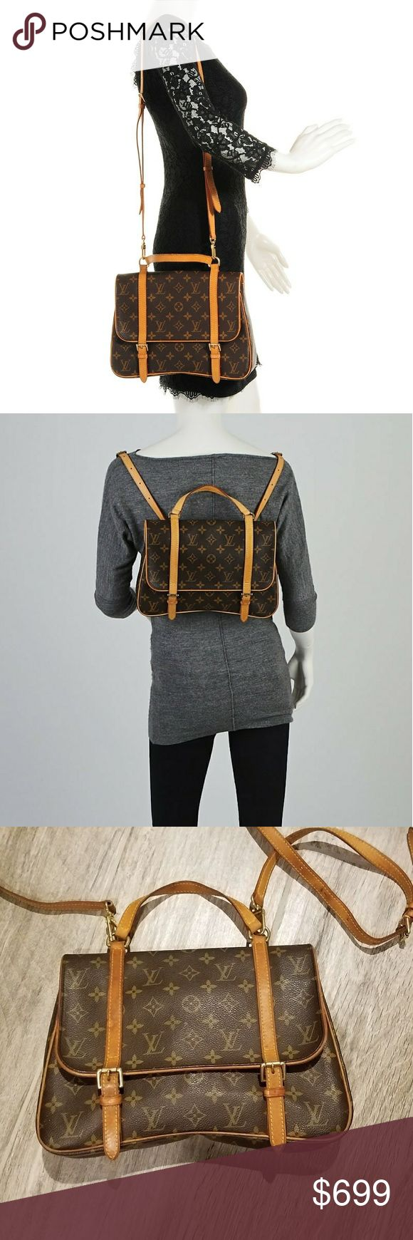 """Authentic Louis Vuitton Marelle Sac a Dos bag Crossbody, handbag, backpack style all in one! Date code SR1024, Made in France. 11 3/4"""" x 7 7/8"""" x 2"""" . Shoulder strap  about 59"""". Pls see all pics for wearm overall great condition,  clean inside, minimal wear on corners. Will sell lower in pypl Louis Vuitton Bags"""