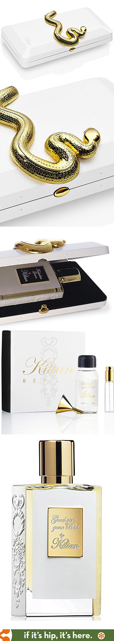 Kilian's Good Girl Gone Bad perfume in snake adorned box with refill. PD