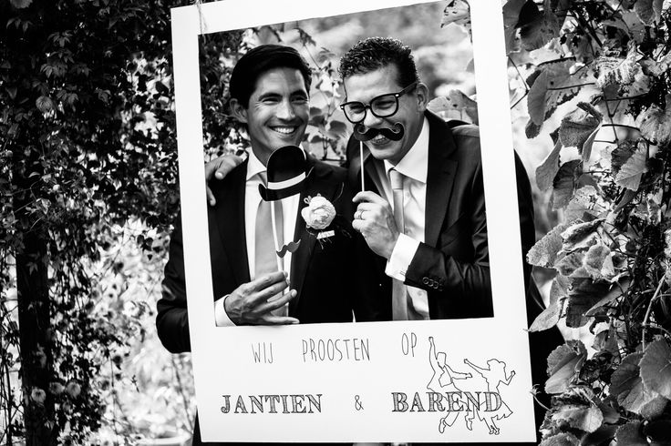 Zelfgemaakte Photo Booth tijdens bruiloft | de Kievit Bruiloften