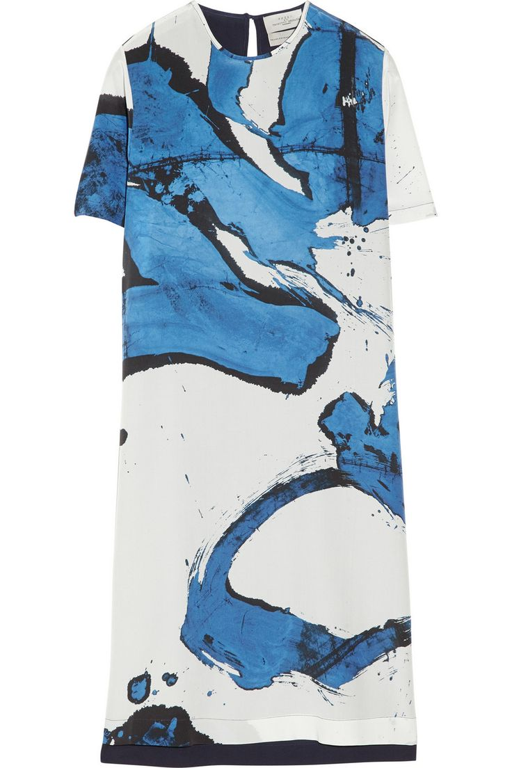 Maja printed silk crepe de chine dress by Preen