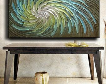 Abstract Painting 52 x 26 Original Abstract Heavy Texture