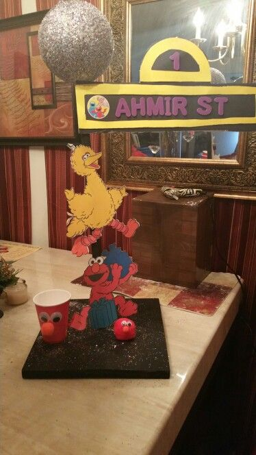 Sesame Street lamppost, Elmo cup