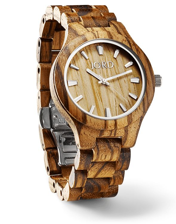 Fieldcrest Zebrawood & Maple - Natural Wood Watch by JORD