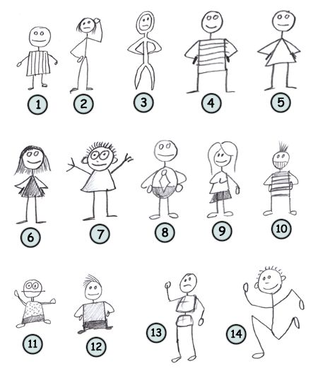 How to draw stick figures
