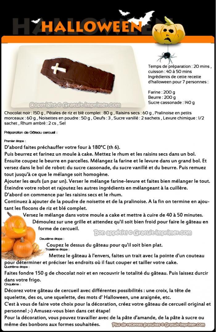 GATEAU DE CERCUEIL en chocolat pour Halloween Meilleure recette de cuisine pour Halloween