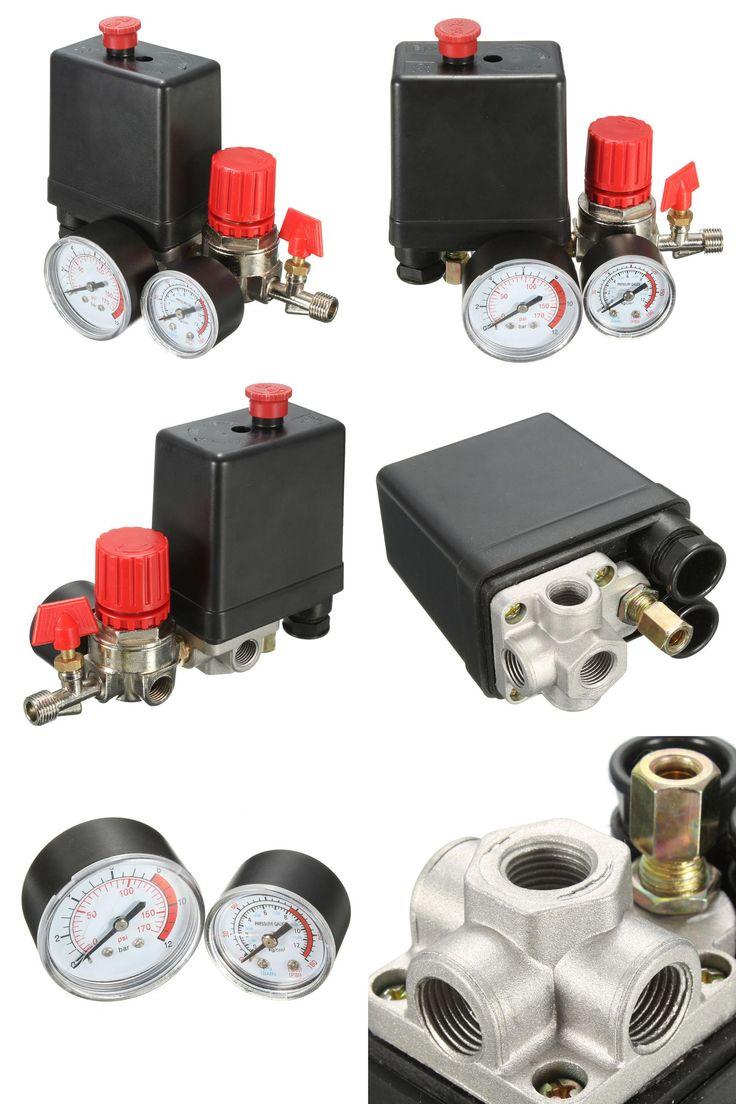 visit to buy air compressor pressure valve switch manifold relief regulator gauges 7 25