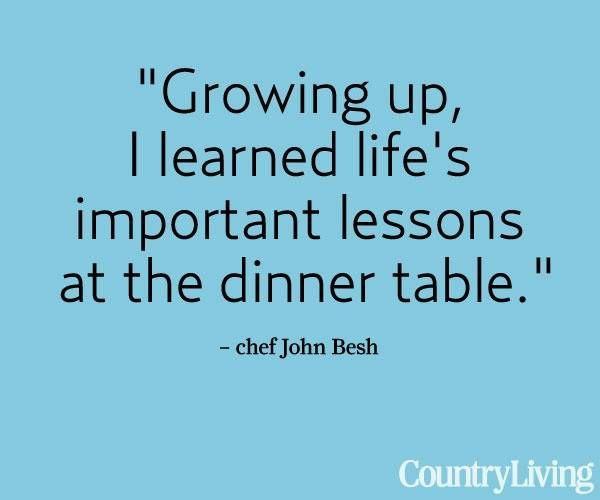 Growing up i learned life 39 s important lessons at the for Table quotes