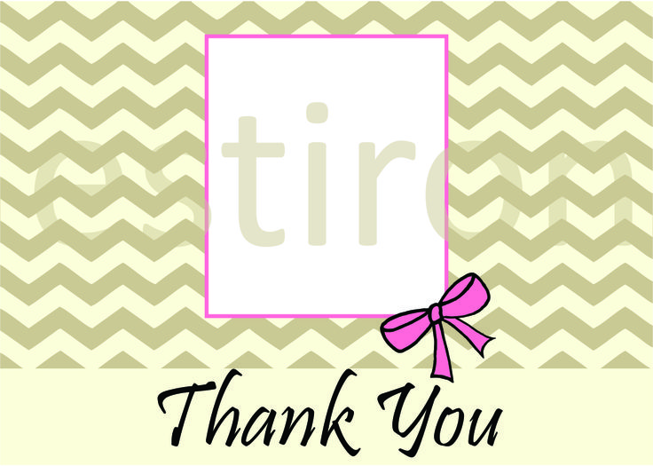 Give a personal touch to a simple Thank You card by adding a photograph