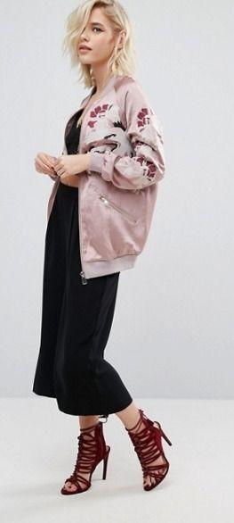 BUYMA.com 海外セレブ風♪ASOS*刺繍ボンバージャケット(24514050)