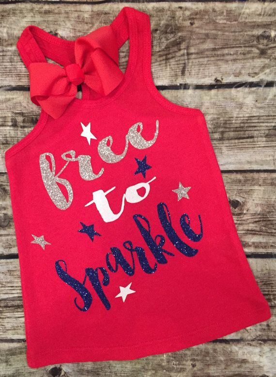 Fourth of July Baby Girl Fourth of July Shirt/Onesie by ALGDezigns