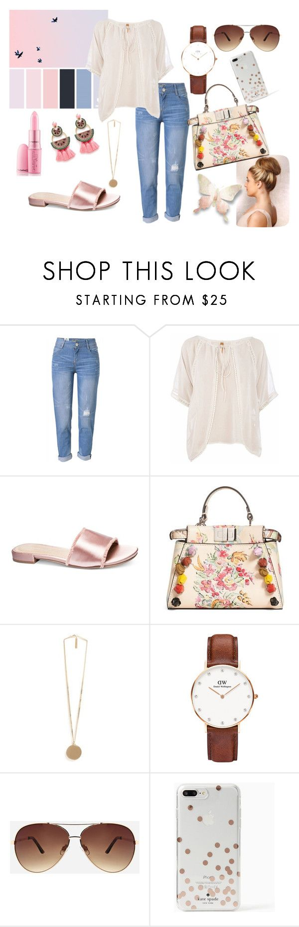 """17.20"" by nicaa on Polyvore featuring moda, WithChic, Conquista, Chinese Laundry, Fendi, Givenchy, Daniel Wellington, Ashley Stewart, Kate Spade e Elizabeth Cole"