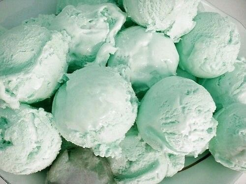 Yummy ice cream in mint! | Repinned by PeachSkinSheets.com                                                                                                                                                                                 More